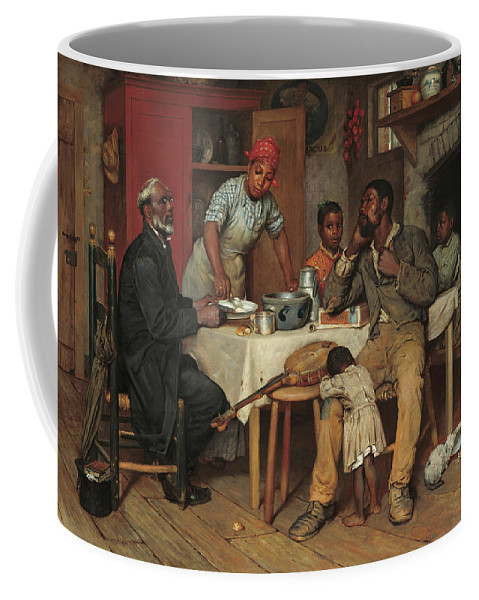 Artist Coffee Mug featuring the painting A Pastoral Visit by Richard Norris Brooke