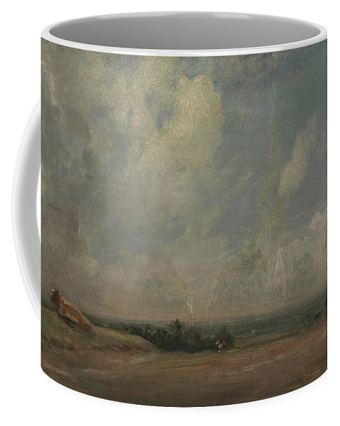 John Constable Coffee Mug featuring the painting A View From Hampstead Heath by John Constable