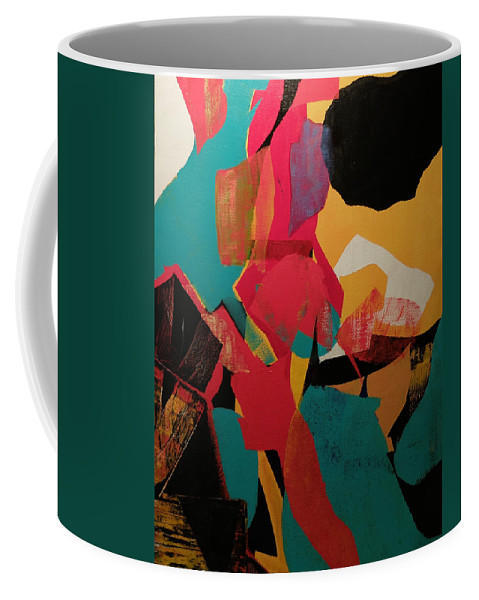 Red Coffee Mug featuring the painting Exit Stage Left by Gail Goren