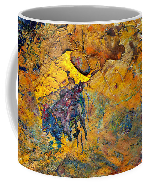Palette Coffee Mug featuring the painting Abstract by Michal Boubin