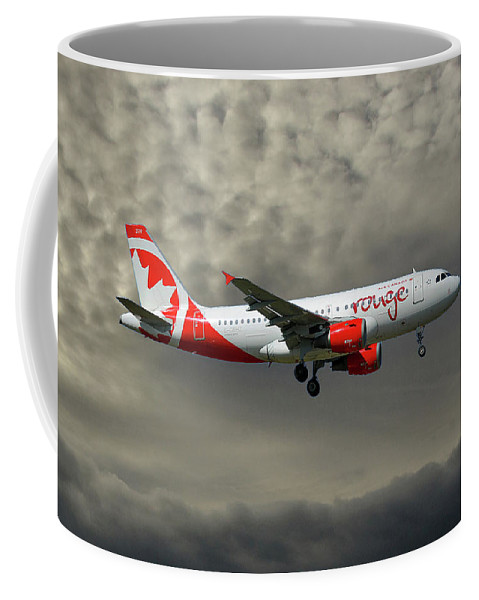 Air Canada Coffee Mug featuring the photograph Air Canada Rouge Airbus A319-114 by Smart Aviation