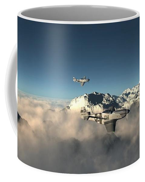 Aircraft Coffee Mug featuring the digital art Aircraft by Dorothy Binder