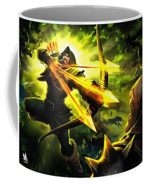 King_s Coffee Mug featuring the digital art Archer by Nur Cahyono