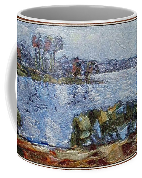 Modern Painting Coffee Mug featuring the mixed media Autumn by Pemaro
