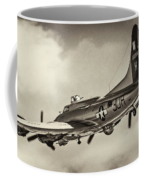 B17g Coffee Mug featuring the photograph B17 Flying Fortress by Chris Smith