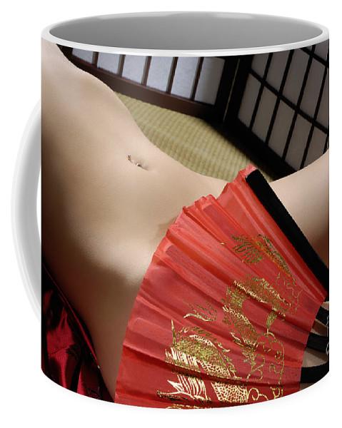 Nude Coffee Mug featuring the photograph Beautiful Naked Woman by Oleksiy Maksymenko