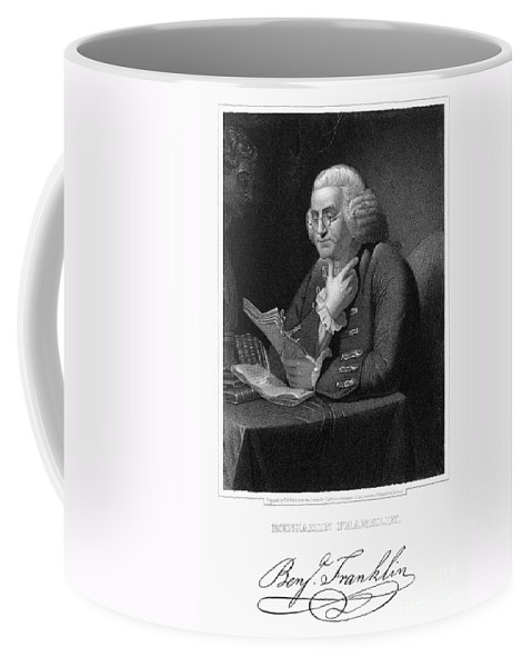 18th Century Coffee Mug featuring the photograph Benjamin Franklin by Granger