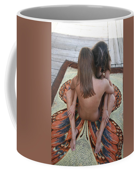 Glamorous Nudes Natural Settings Coffee Mug featuring the photograph Butterfly by Lucky Cole