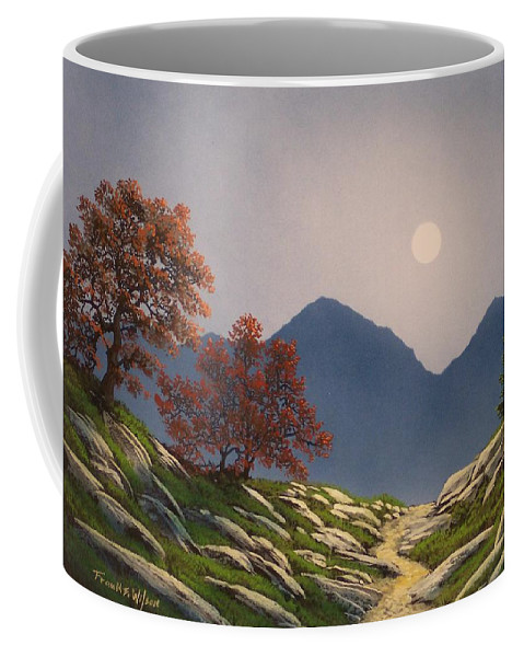 Mountains Coffee Mug featuring the painting By The Light Of The Moon by Frank Wilson
