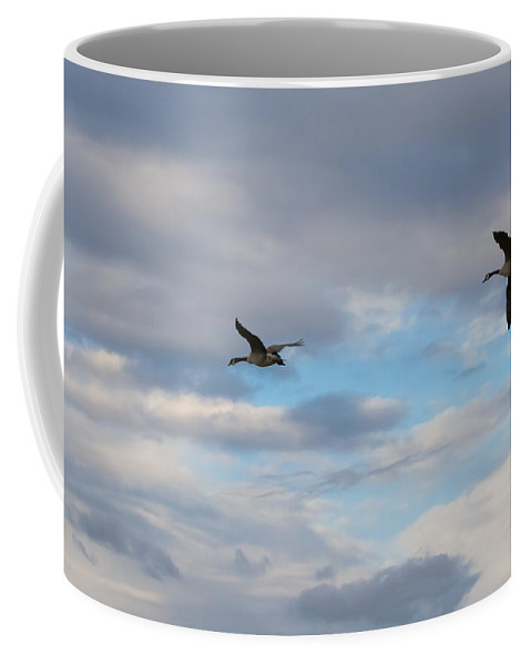 Canada Geese Coffee Mug featuring the photograph Canada Geese by Jan M Holden