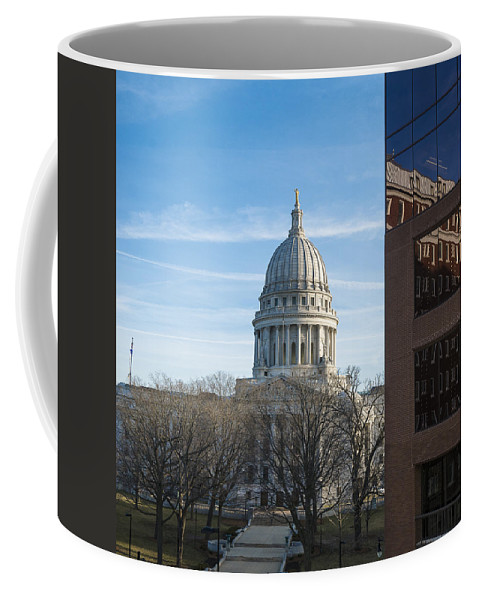Capitol Coffee Mug featuring the photograph Capitol - Madison - Wisconsin by Steven Ralser