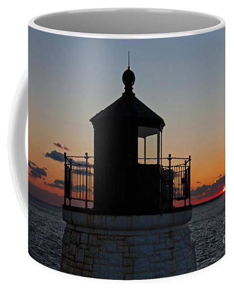 Travel Coffee Mug featuring the photograph Castle Hill Light Newport Rhode Island by Jason O Watson