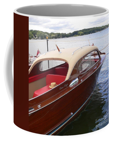 Wooden Boat Coffee Mug featuring the photograph Chris Craft by Neil Zimmerman
