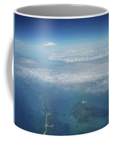 Photo Sea Ocean Islands Photography Landscape Caribe Sunset Water Beach Sun Relax Contemporary Decorative Abstract Prints Diving Night Photographs Clouds Sand Water Bubbles Clouds Lights Art Photo Picture Gift Coffee Mug featuring the photograph Clouds by Juan Mildenberger