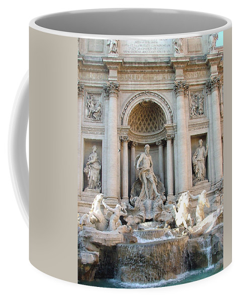 Trevi Coffee Mug featuring the photograph 3 Coins In A Fountain by Mindy Newman