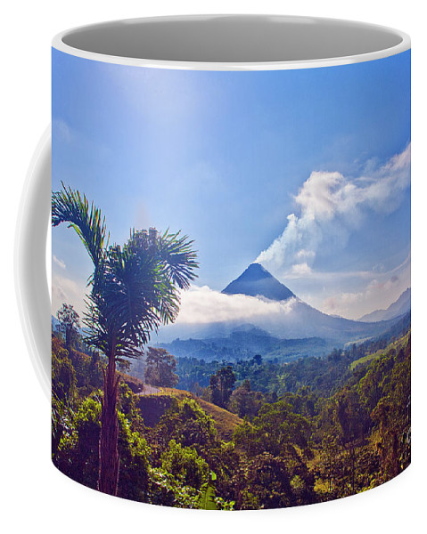 Volcano Coffee Mug featuring the photograph Costa Rica Volcano by Madeline Ellis