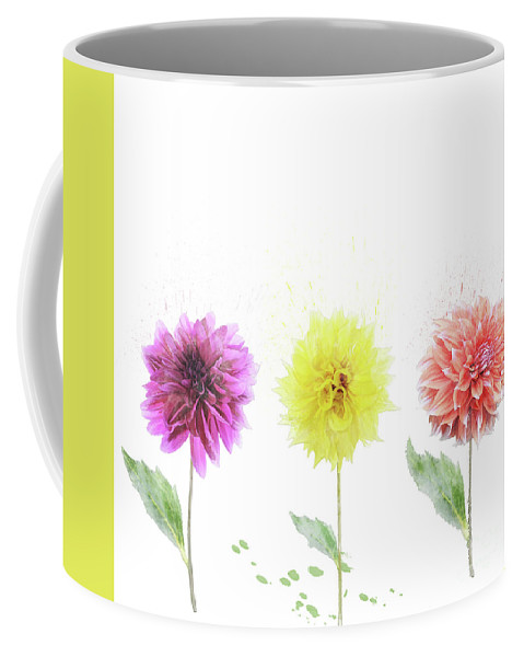 Dahlia Coffee Mug featuring the digital art Dahlia Flowers by Svetlana Foote