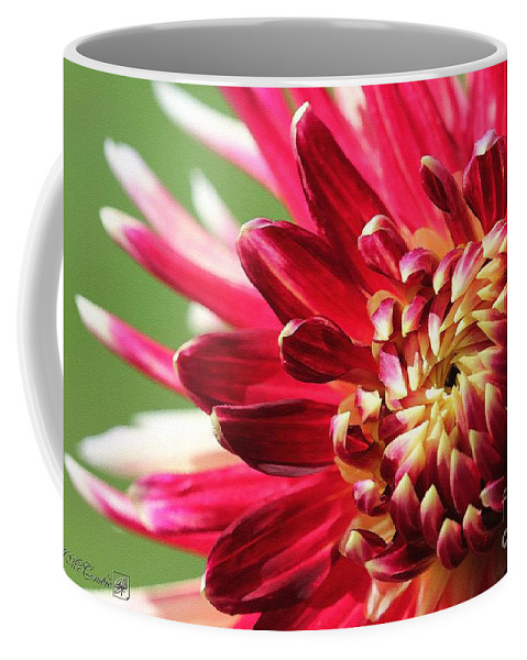 Mccombie Coffee Mug featuring the painting Dahlia Named Akita by J McCombie