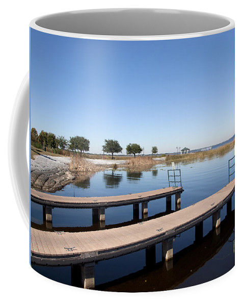 Lake Coffee Mug featuring the photograph East Lake Toho In Florida by Allan Hughes