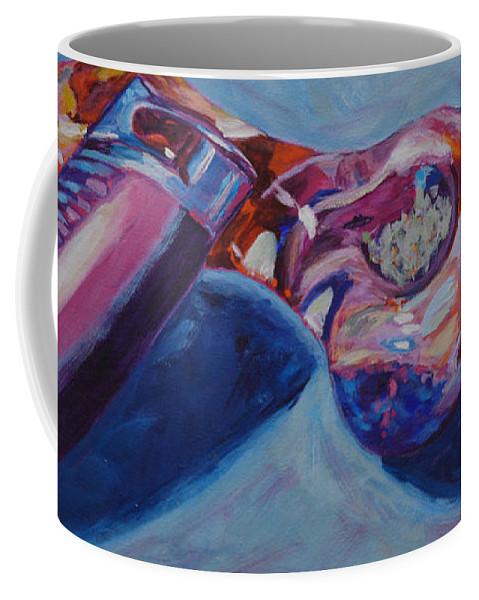 Marijuana Coffee Mug featuring the painting 3 Essentials by Anita Toke