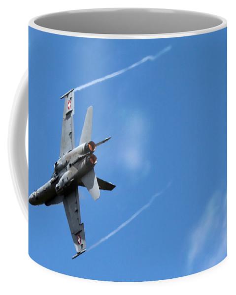 F/a-18 Superhornet Coffee Mug featuring the photograph F-18 Superhornet by Angel Tarantella