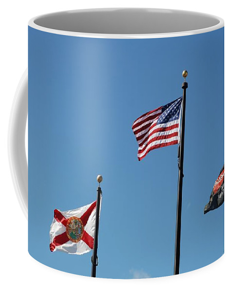 American Flag Coffee Mug featuring the photograph 3 Flags by Rob Hans