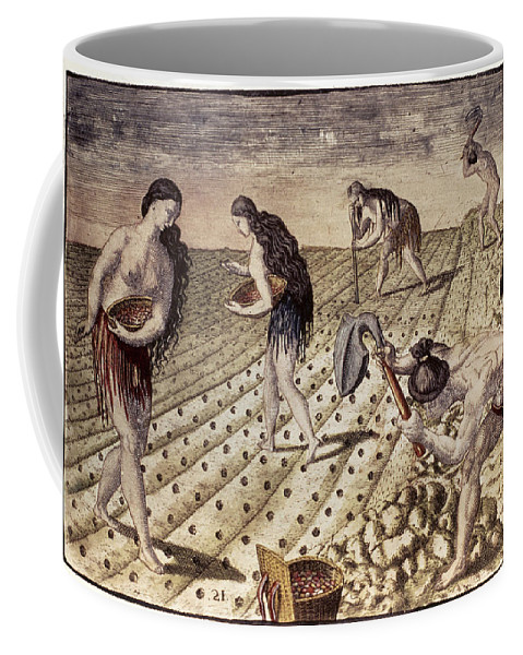 1591 Coffee Mug featuring the photograph Florida Native Americans, 1591 by Granger