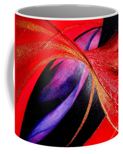 Fusion Coffee Mug featuring the painting Fusion by Kumiko Mayer