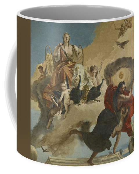 18th Century Art Coffee Mug featuring the painting Juno And Luna by Giovanni Battista Tiepolo