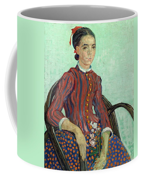 Painting Coffee Mug featuring the painting La Mousme by Mountain Dreams