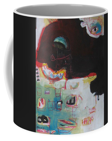 Abstract Paintings Coffee Mug featuring the painting Little Bay by Seon-Jeong Kim