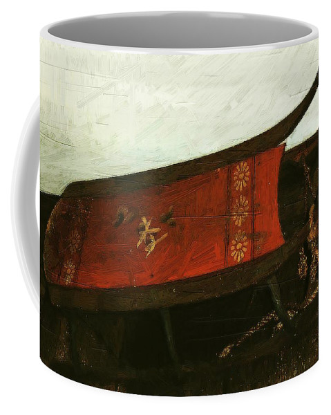 Antique Coffee Mug featuring the painting Mais Ou Sont Les Neiges D'antan by RC DeWinter