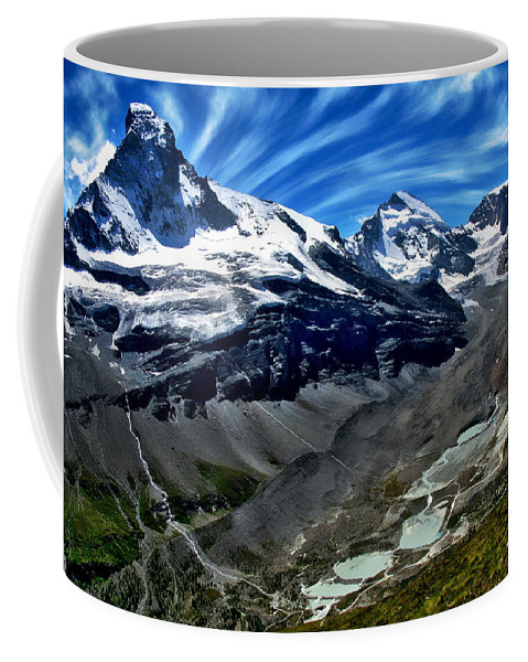 Serene Coffee Mug featuring the photograph Matterhorn Panorama by Anthony Dezenzio