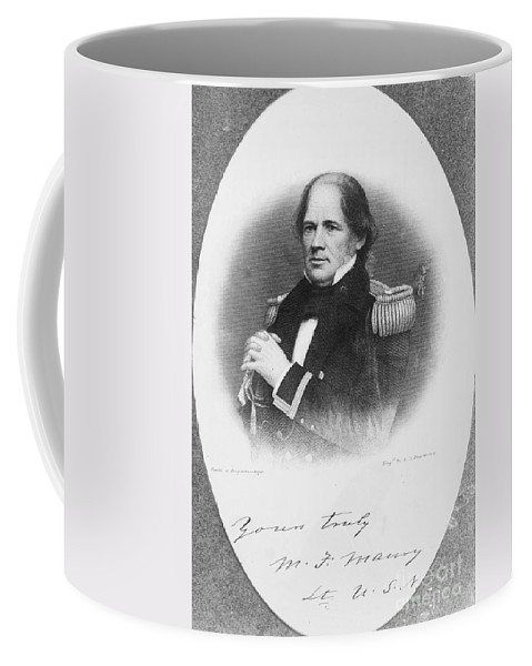 1855 Coffee Mug featuring the photograph Matthew Fontaine Maury by Granger