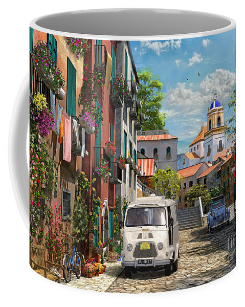 Cottage Coffee Mug featuring the photograph Mediterranean Morning by Dominic Davison