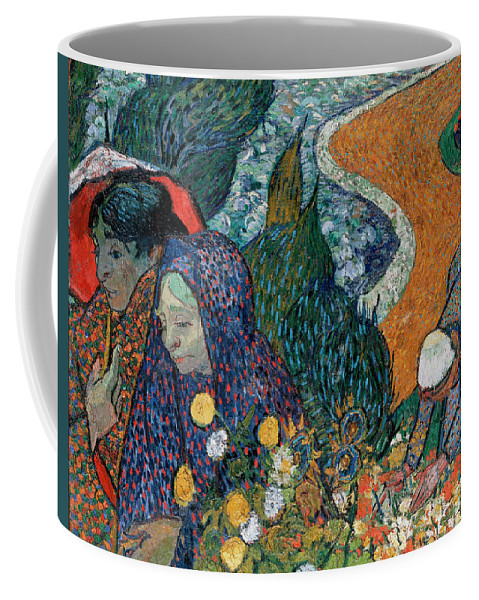 Vincent Van Gogh Coffee Mug featuring the painting Memory Of The Garden At Etten by Vincent Van Gogh