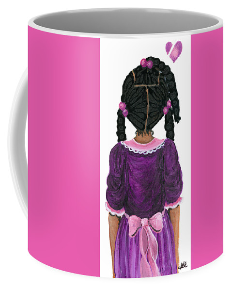 Coffee Mug featuring the painting Precious by Sonja Griffin Evans