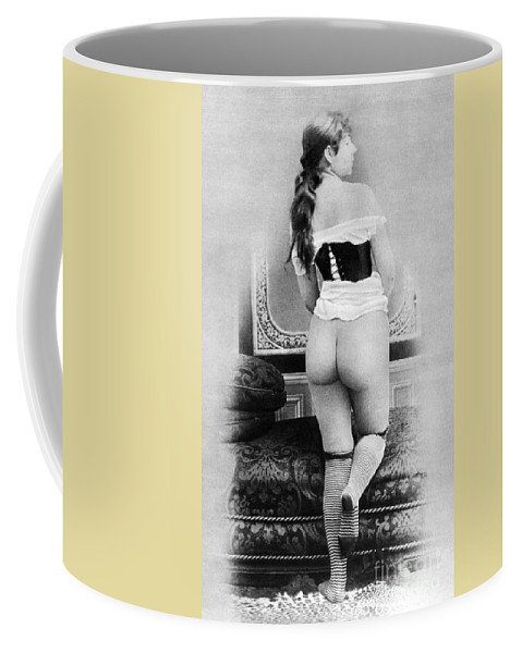1885 Coffee Mug featuring the photograph Nude Posing: Rear View by Granger