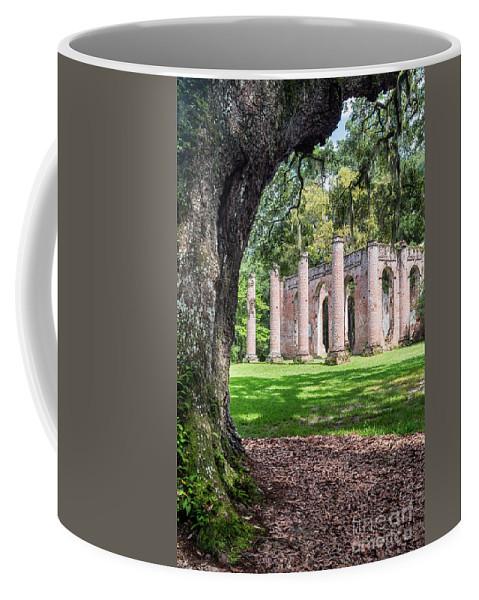Old Sheldon Church Coffee Mug featuring the photograph Old Sheldon Church Ruins by Dawna Moore Photography