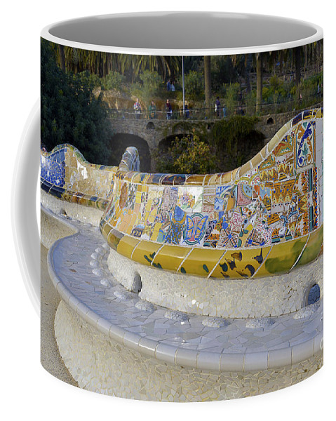 Arc Coffee Mug featuring the photograph Park Guell by Svetlana Sewell