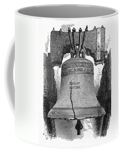 1776 Coffee Mug featuring the photograph Philadelphia: Liberty Bell by Granger