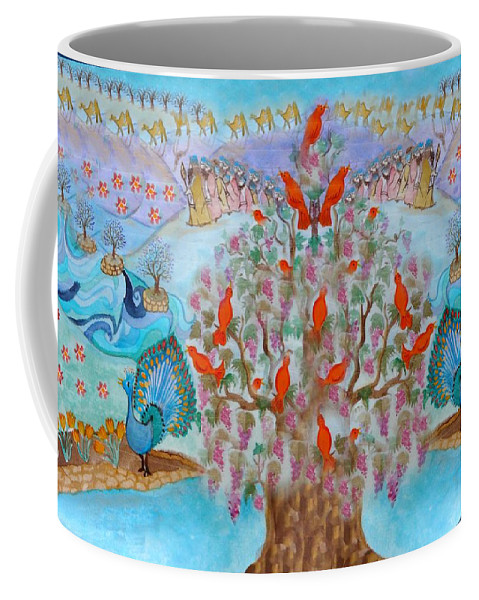 Blessing Coffee Mug featuring the digital art Prosperity And Blessing by Sandrine Kespi