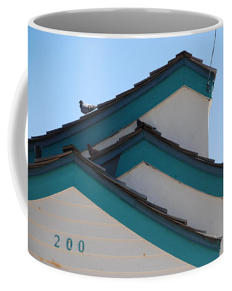 Birds Coffee Mug featuring the photograph 3 Roofs by Rob Hans
