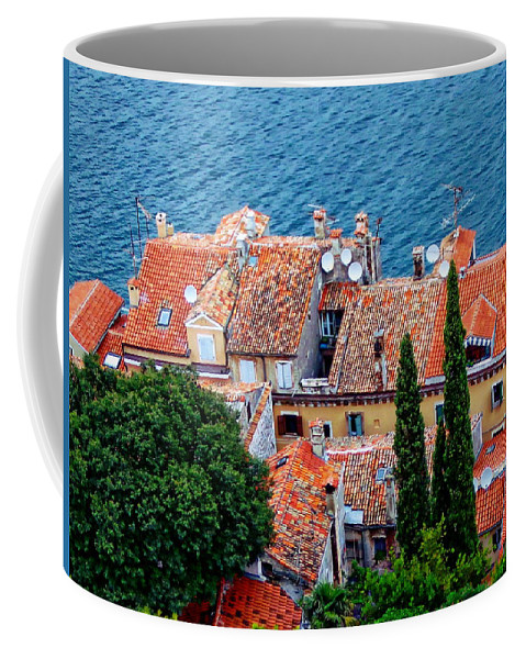 Red Coffee Mug featuring the photograph Rovinj - Croatia by Anthony Dezenzio