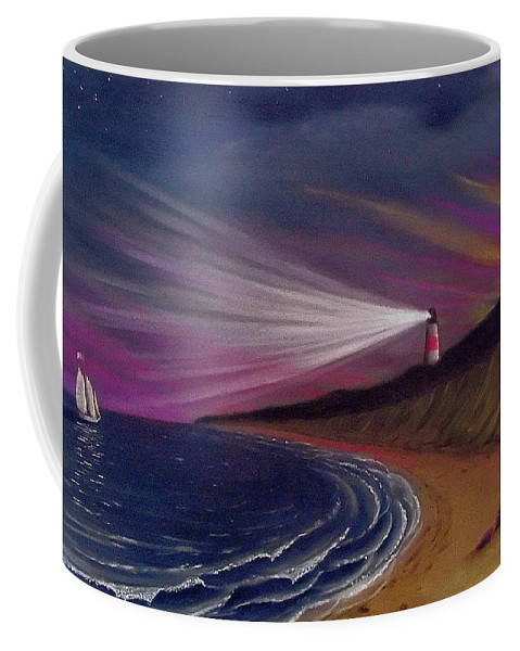 Sankaty Coffee Mug featuring the painting Sankaty Head Lighthouse Nantucket by Charles Harden
