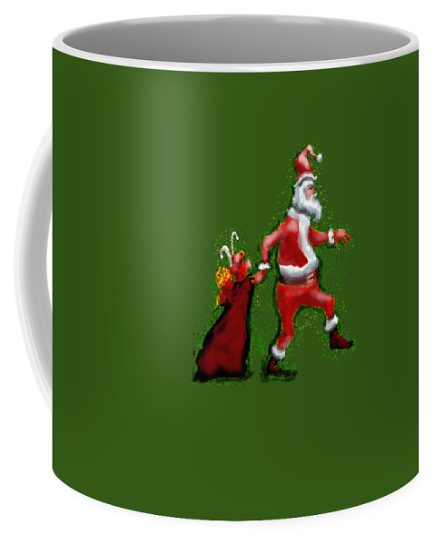 Santa Coffee Mug featuring the painting Santa Claus by Kevin Middleton