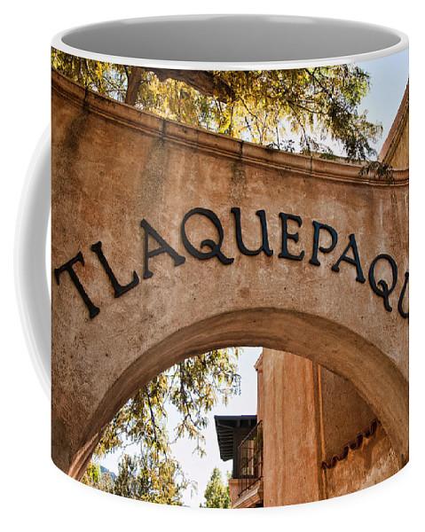 Sedona Tlaquepaque Shopping Center Coffee Mug featuring the photograph Sedona Tlaquepaque Shopping Center by Jon Berghoff