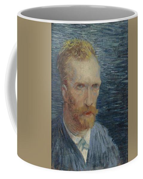 Man Coffee Mug featuring the painting Self-portrait Paris July  August 1887 Vincent Van Gogh 1853 1890 by Artistic Panda