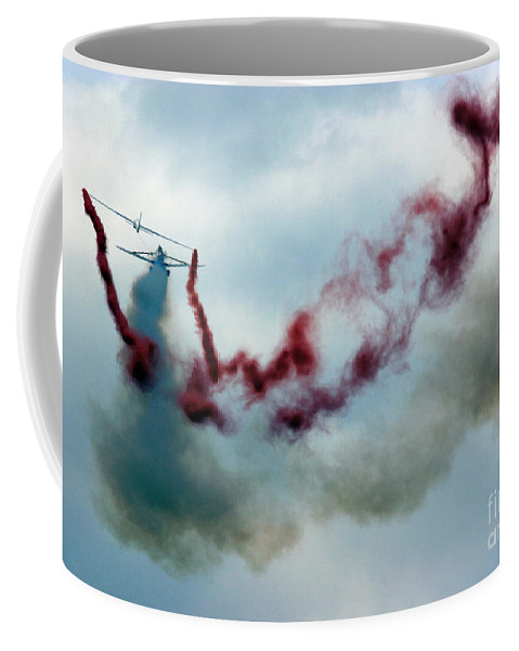 Swift Aerobatic Display Team Coffee Mug featuring the photograph Silent Flight by Angel Ciesniarska