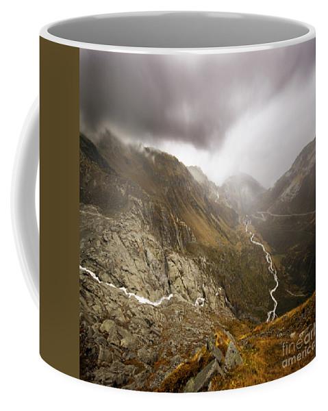 Mountain Coffee Mug featuring the photograph Swiss Alps by Angel Ciesniarska